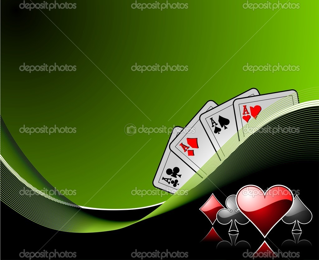 Vector gambling background with casino elements — Stock Vector #12081183