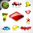 Royalty-Free Stock Vector Image: Vector icon collection on a casino and fortune theme.