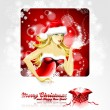 Vector Holiday illustration, on a Christmas theme with beautiful — Stock Vector #12361018