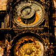 Stock Photo: Antique clock in prague