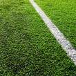 Stock Photo: Diagonal line on football field