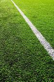 Diagonale linie auf dem fußballplatz — Stockfoto