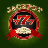 Jackpot background — Vettoriale Stock