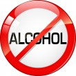 Stock Vector: NO ALCOHOL