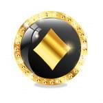 Poker, casino icon — Stock Vector #10884013