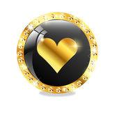 Poker, casino icon — Stock Vector