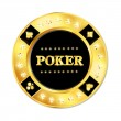 Stock Vector: Poker chip