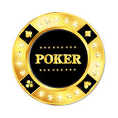 Poker chip — Stock Vector