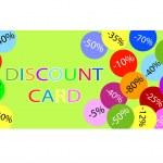 tarjeta de descuento — Vector de stock