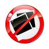 Photo forbidden sign — Stock Vector