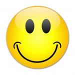 HAPPY SMILEY Web Button — Stock Vector