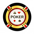 Poker chip — Stock Vector #11531027