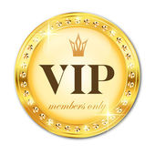 VIP label. Gold — Stock Vector