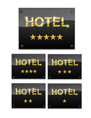 Hotel sign with the Stars — Stock Vector