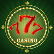 Casino 777 — Stock Vector