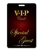 Vip card. Special guest — Stock Vector