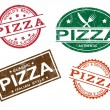Pizza stamps — Stock Vector