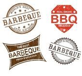 Barbeque stamps — Stock Vector