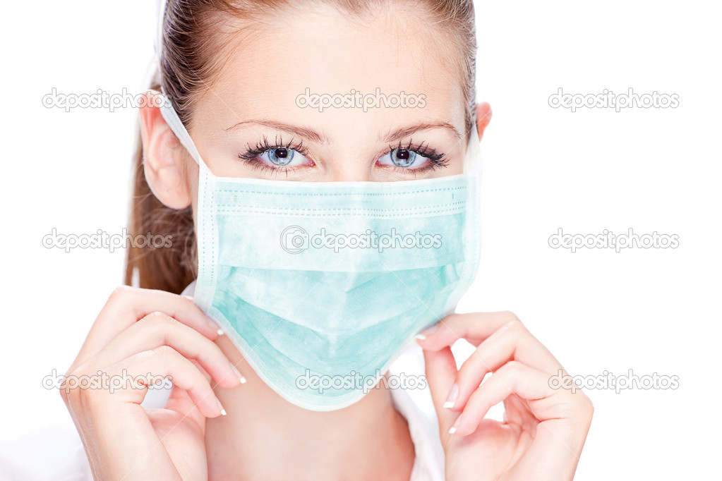 Blue eyes female nurse or doctor — Stockfoto #11861740