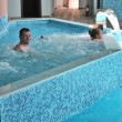 Father and daughter in the Spa — Stock Photo #10769377