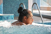 Woman in the spa center — Stock Photo