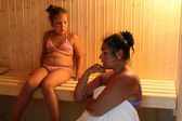 In the sauna — Stock Photo