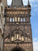 Tower on the Charles bridge in Prague — Stock Photo