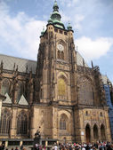 Saint Vitus cathedral in Prague — 图库照片