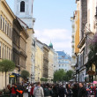 Stock Photo: Famous Vaci street in Budapest