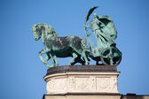 Sculpture from Hero square in Budapest — Stock Photo