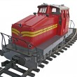 Red train model — Stock Photo