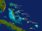 Bahamas map — Stock Photo