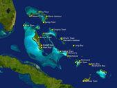 Bahamas map — Stock Photo