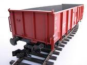 Red wagon — 图库照片