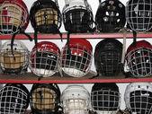 Hockey helmets — Stock Photo