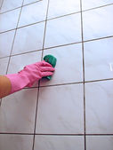 Tiles cleaning — Stock Photo