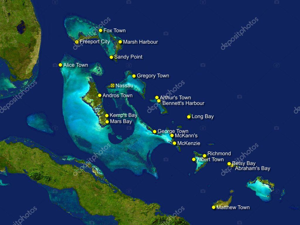 Bahamas Karte — Stockfoto © vladislavgajic #10930528