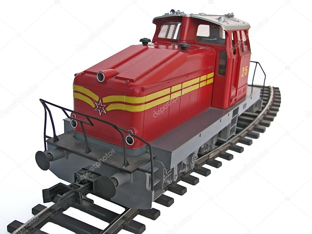 Red train model — Stock Photo #10930648