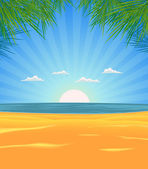 Summer Beach Landscape — Stock Vector