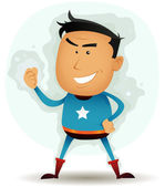 Comic Superhero Character — Stock Vector