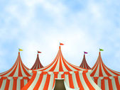 Circus Tents Background — Stock Vector
