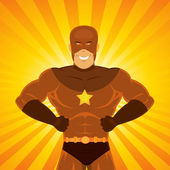 Comic Power Superhero — Stock Vector