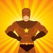 Comic Power Superhero — Stock Vector