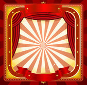 Circus Frame Poster Background — Stock Vector
