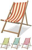 Plaj sandalye seti — Stok Vektör
