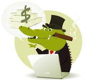 Crocodile Bankster Crook — Stock Vector