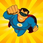 Flying Superhero — Stock Vector