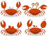 Personagens de caranguejos vermelhos — Vetorial Stock