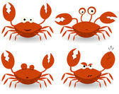Red Crabs Characters — Stock Vector