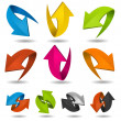 Colorful Motion Arrows Set — Stock Vector